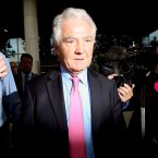 Former Anglo boss Seann Fitzpatrick leaving court (Niall carson/PA Wire)