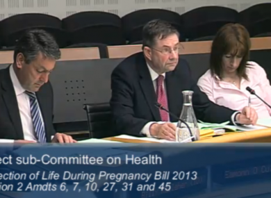 TDs discussing the abortion bill at committee stage tonight