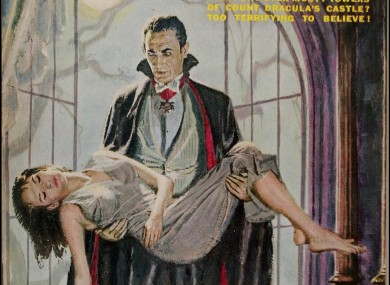 Dracula, thinking about applying a little fake bake.
