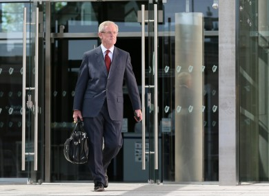 Frank Dunlop leaves the Dublin Circuit Criminal Court earlier this month