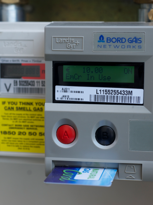 A file image of the type of pre-pay Bord Gáis meter that was tampered with.