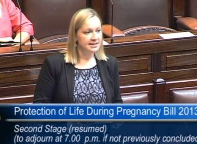 Lucinda Creighton speaking in the Dáil