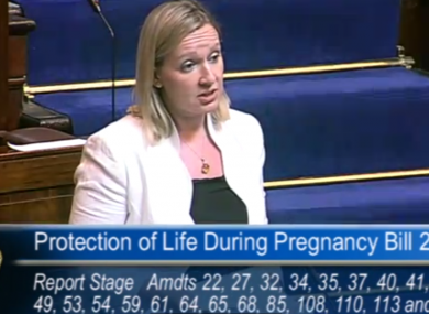 Lucinda Creighton speaking in the Dáil this evening.