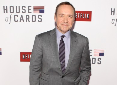 Kevin Spacey at the premiere of House of Cards, Netflix's first original series