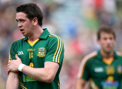 Meath's Peadar Byrne was dejected after his side's elimination.