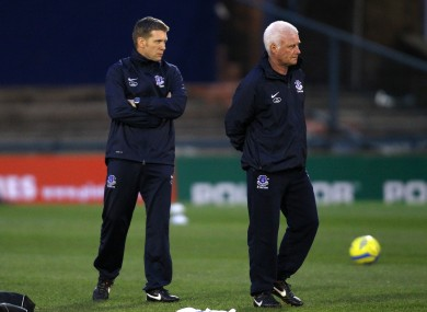 Steve Round and Jimmy Lumsden worked under Moyes at Everton.