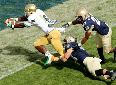 Last year's game between Notre Dame and Navy provided a significant boost to the Irish economy.