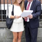 Alanah Quinsey recounts her grades. Photo: Sam Boal/Photocall Ireland