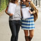 Michaela Kearney (18) from Cabra and Jenney Keogh (18) look at their results from Loretto College in Dublin. Photo: Sam Boal/Photocall Ireland