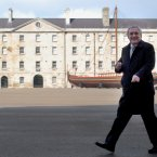 Bertie Ahern taking in the sites at Collins Barracks in 2008.(Photo: Sasko Lazarov/Photocall Ireland)