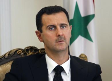 File photo of Syrian President Bashar Assad.