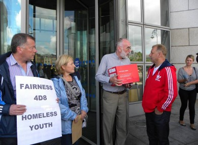 The local action group giving Dublin City Council the signed petition earlier.