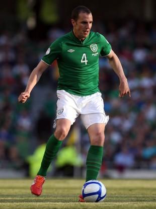 John O'Shea playing for Ireland.