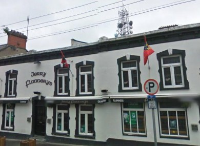 The road sign outside Jerry Flannerys pub was one of the targeted signs