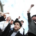 Mathew Ryan (6) plays his  part in the State commemoration of the 1913 centenary Lockout on Dublin's O'Connell Street.<span class=