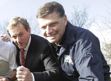 Taoiseach Enda Kenny with his fellow Mayo TD John O'Mahony (File photo)