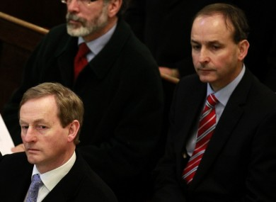 Fine Gael leader Enda Kenny and his Fianna Fáil counterpart Micheál Martin