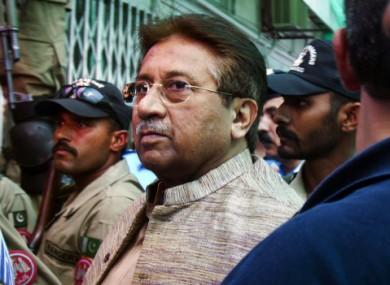 Pervez Musharraf arrives at an anti-terrorism court in Islamabad, Pakistan in April (File photo)