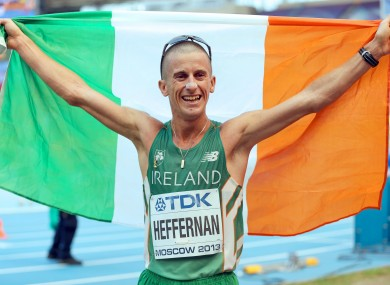Rob Heffernan wins gold for Ireland in Moscow.