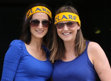 Raising the Banner: Clare fans at Croker last weekend.