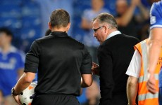 Lambert livid with referee after Chelsea loss