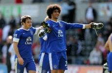 Everton reject £28m Man United bid for Fellaini and Baines
