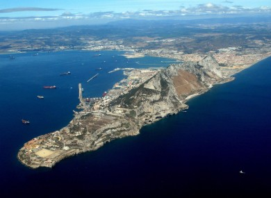 An aerial view of Gibraltar