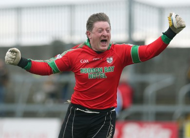 Curran celebrating as his St Brigid's side defeated Crossmaglen this year.