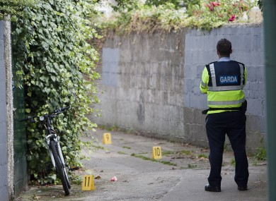 A Garda at the scene of a shooting in Glasnevin in Dublin this week.