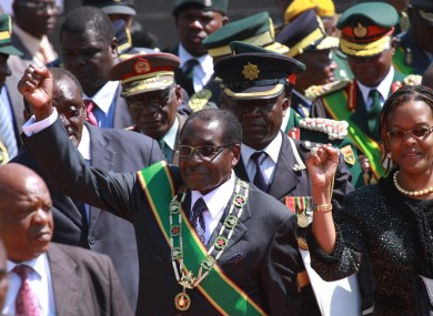 Mugabe arrives for today's event