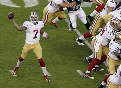 San Francisco 49ers quarterback Colin Kaepernick will hope for similar success to the last time he played against the Green Bay Packers defence.
