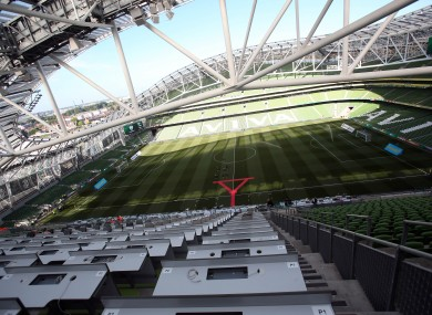 Aviva Stadium: could host up to four games at Euro 2020.