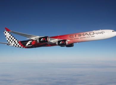 Etihad airline.