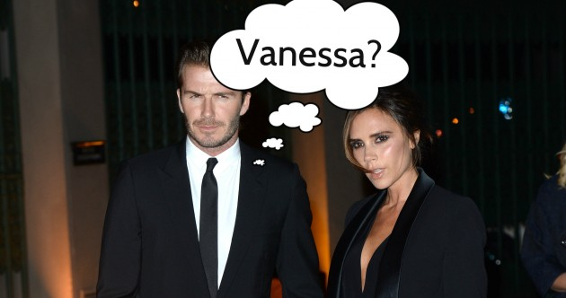 Is David Beckham afraid he'll forget his wife's name?… Find out in The Dredge