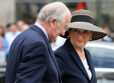 The former King Albert with Queen Paola.