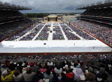 The closing day of the congress, at Croke Park