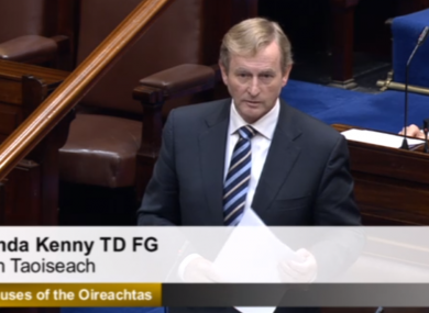 Enda Kenny at Leaders' Questions this morning