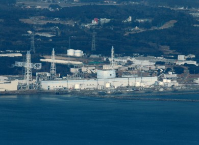 Fukushima No.1 nuclear power reactor on the edge of the Pacific.