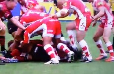 Gruesome stamp earns Gloucester prop red card after 73 seconds