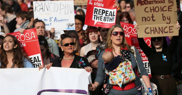 Pictures: Crowds take to the streets for pro-choice march
