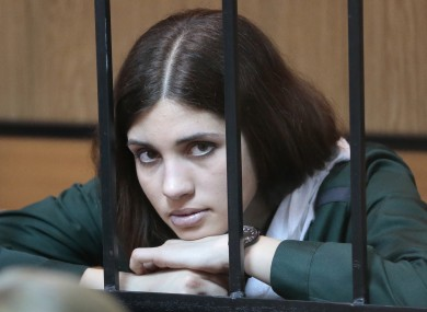 Nadezhda Tolokonnikova at a district court  in Mordovia earlier this year at an early release hearing.