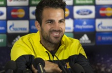 Fabregas fired up to fill Messi void at Celtic Park