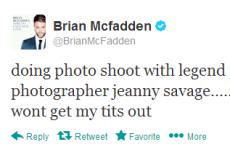 Tweet Sweeper: Brian McFadden's Page Three photoshoot