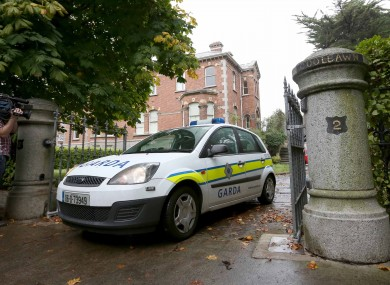 Gardaí at the former home of bankrupt developer Tom McFeely on Thursday
