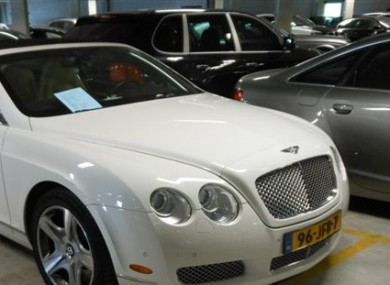 A Bentley Convertible seized in Holland in May as part of the operation