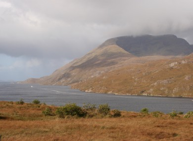 Mweelrea over Killary Harbour.