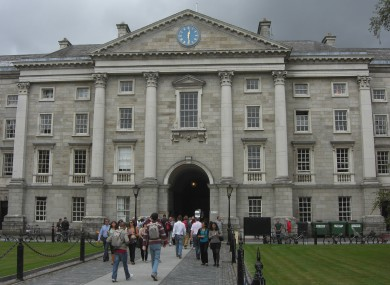 The front arch at Trinity College Dublin.