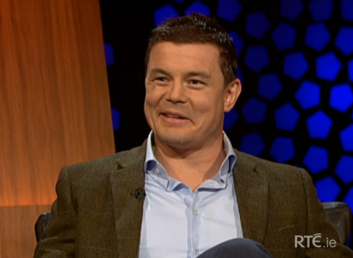 Brian O'Driscoll spoke about rugby, retirement and fatherhood on the Late