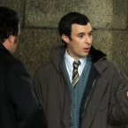 Tom Vaughan-Lawlor (right) portrays Charles Haughey's press adviser, PJ Mara.<span class=