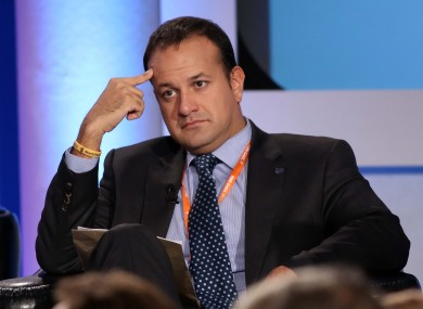 Leo Varadkar at the Fine Gael national conference in Limerick today